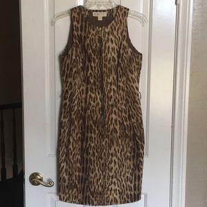 Michael Kors brown leopard dress
